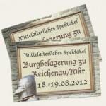 Freikarten Burgbelagerung zu Reichenau
